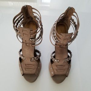 Aldo wedge gladiator sandals